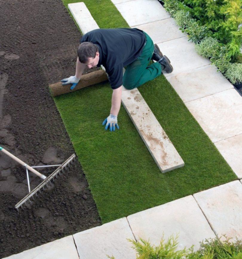 Правильная укладка газона