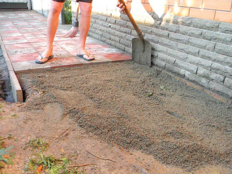 цементно песчаное основание