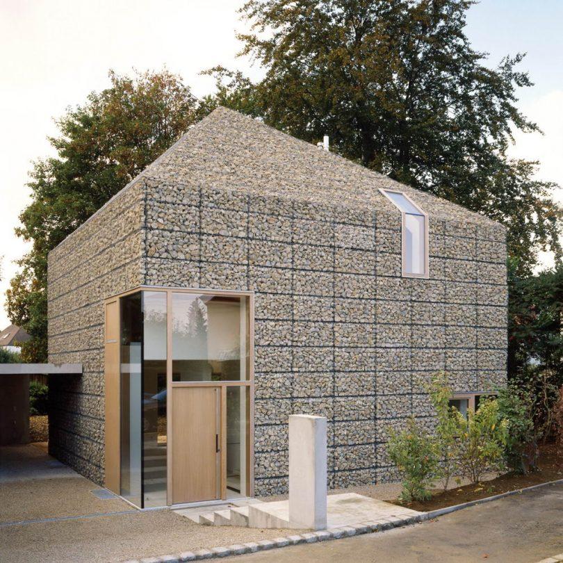 Применение габионов в строительстве домов