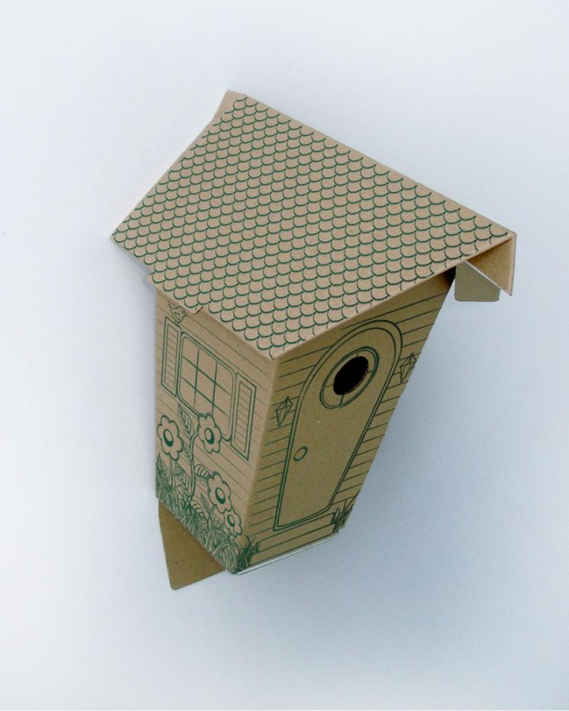 Скворечник из картона