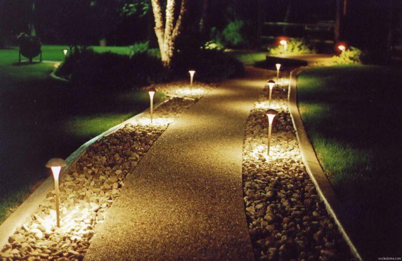 освещение дорожек в загородном доме