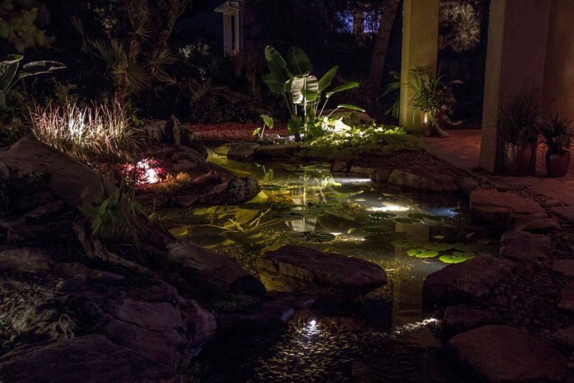 подсветка для пруда своими руками
