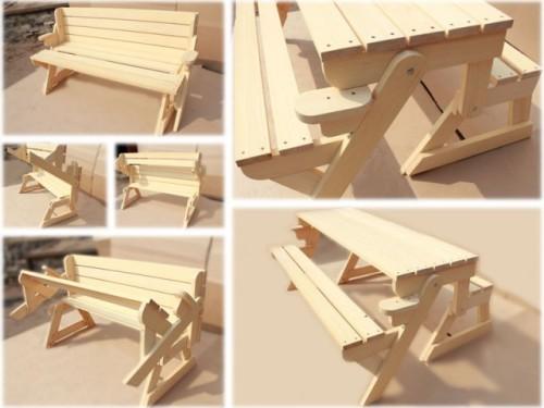 трансформер скамейка стол скамейка