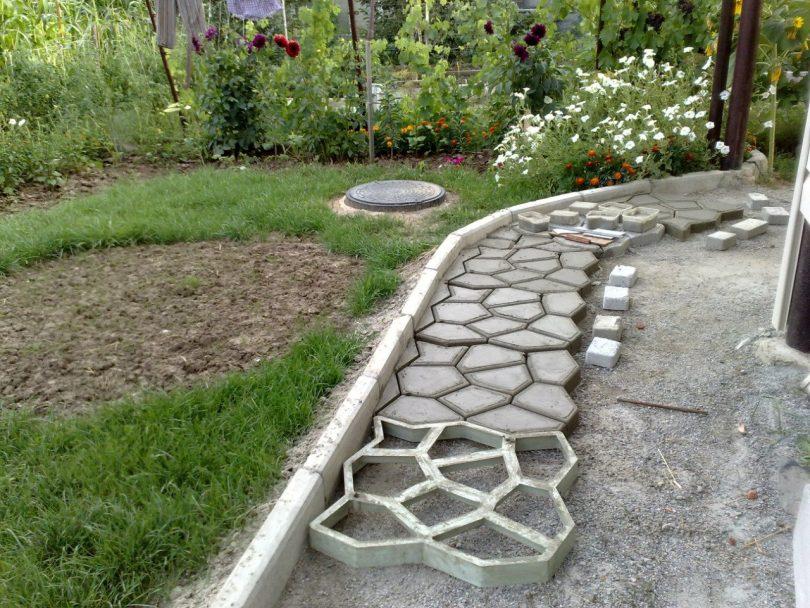 дорожки из бетона изготовление