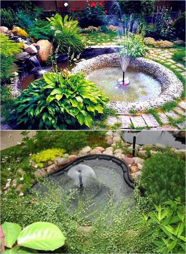 маленькие фонтаны с резервуаром