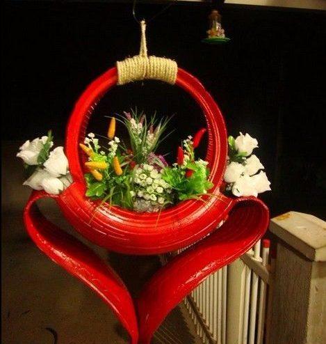 садовые клумбы из шин