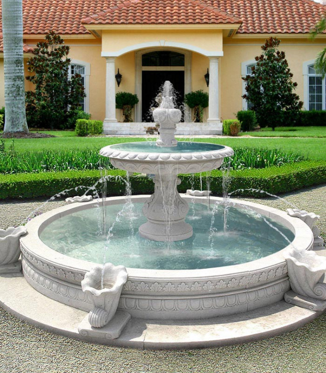 фонтаны декор для дачи