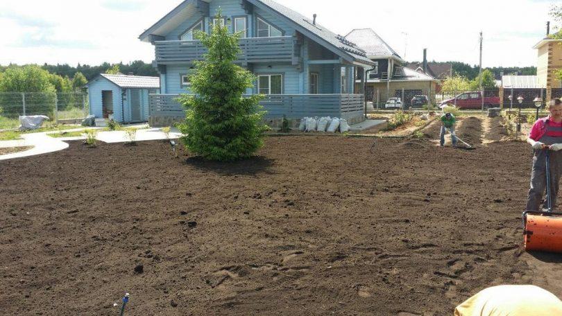 подготовка под газон почвы