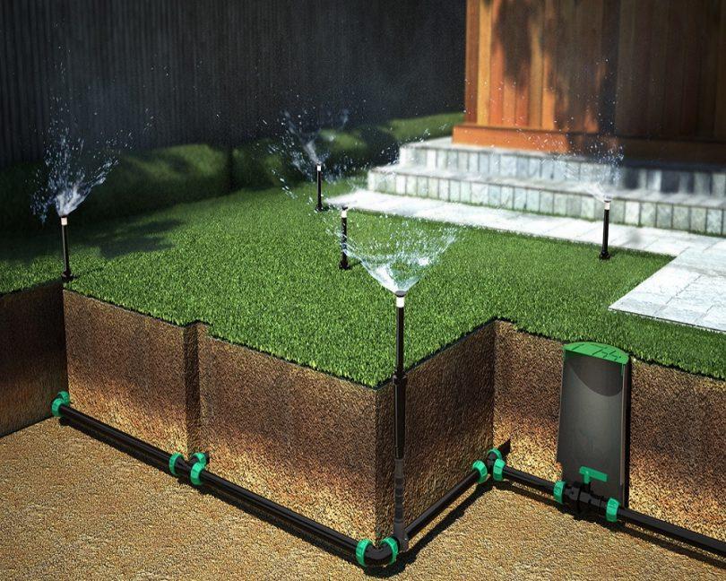 оборудование полив газона
