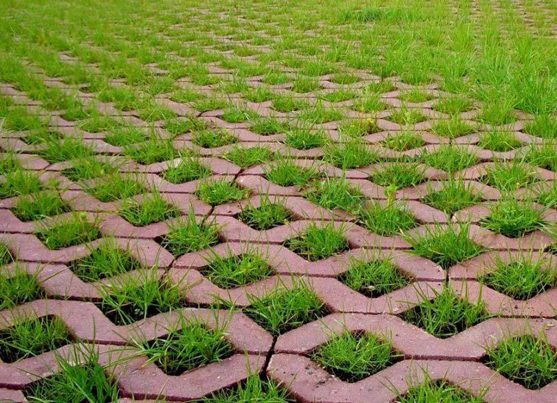 бетонная плитка для газона
