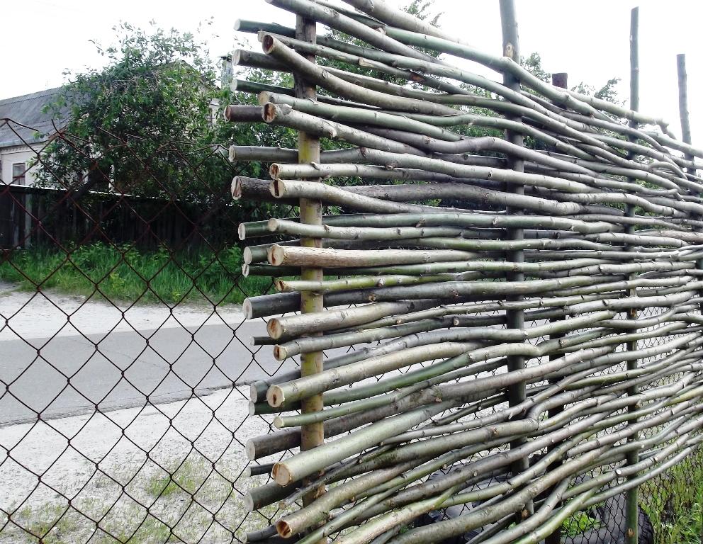 забор в палисадник