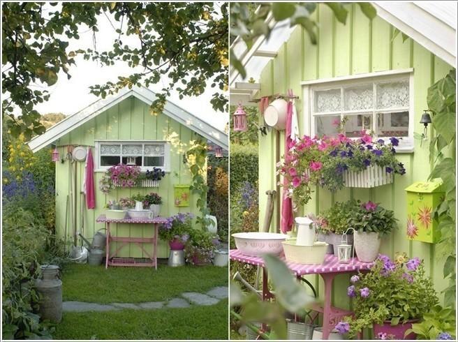 Ландшафтный дизайн садовых домиков