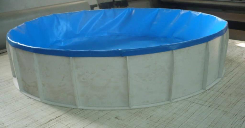 Изготовление баннерного бассейна