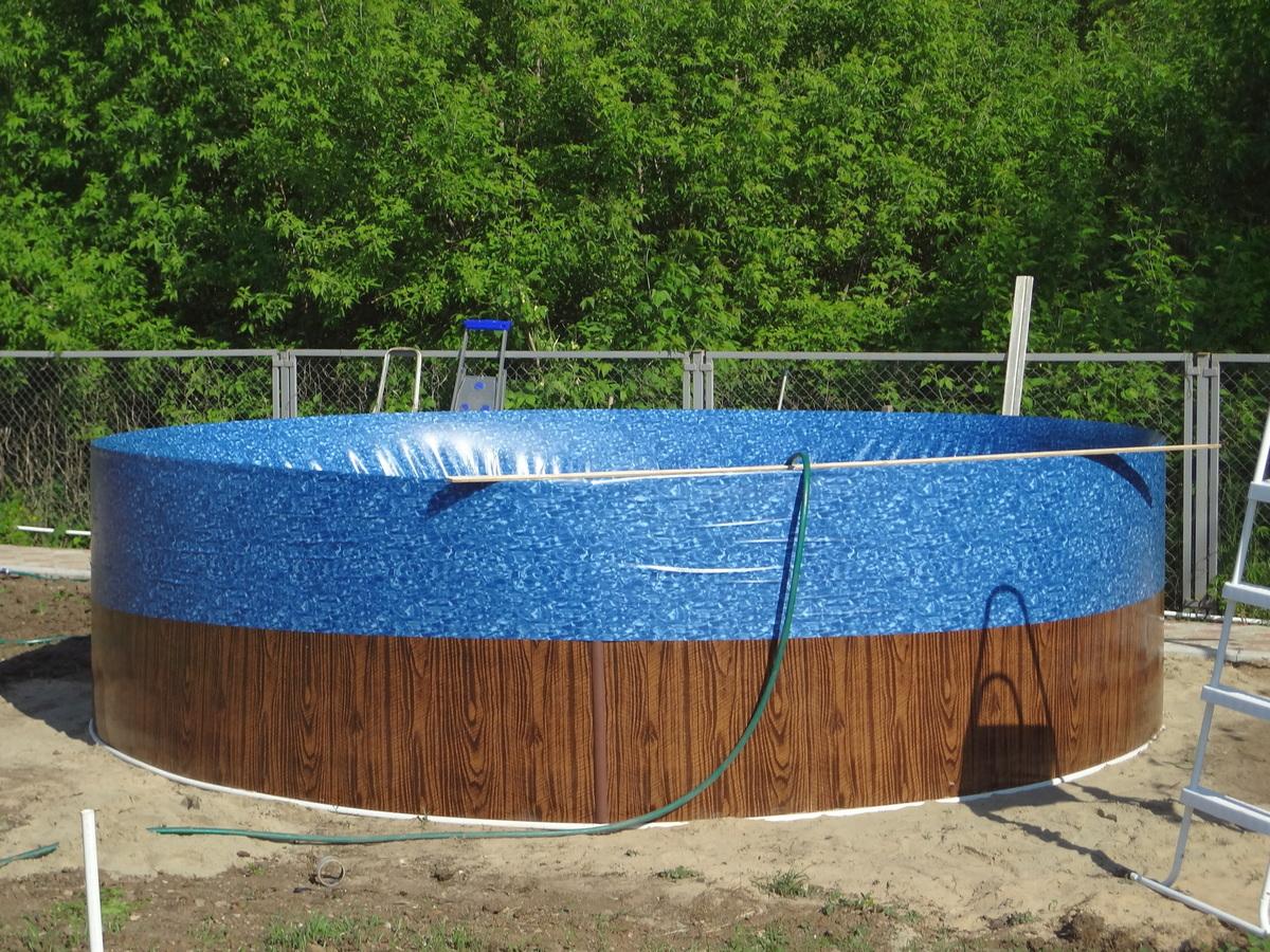 Отделка каркасного бассейна