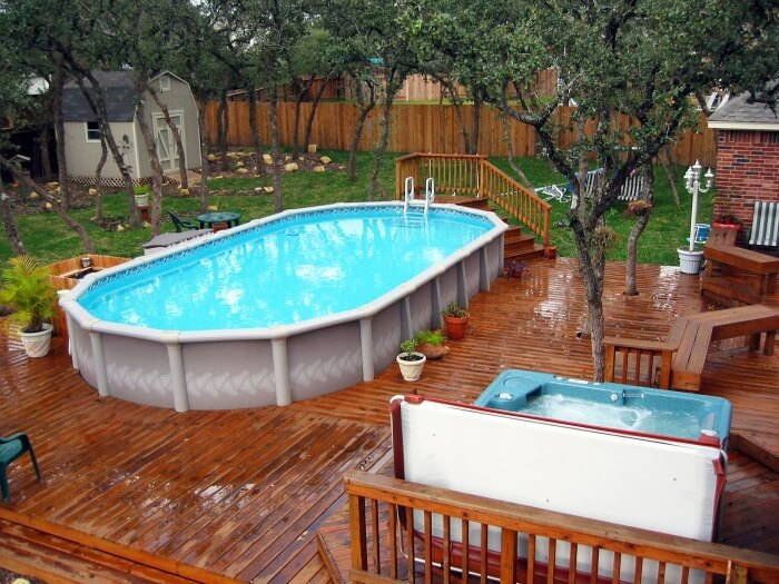 Мини бассейн для дачи