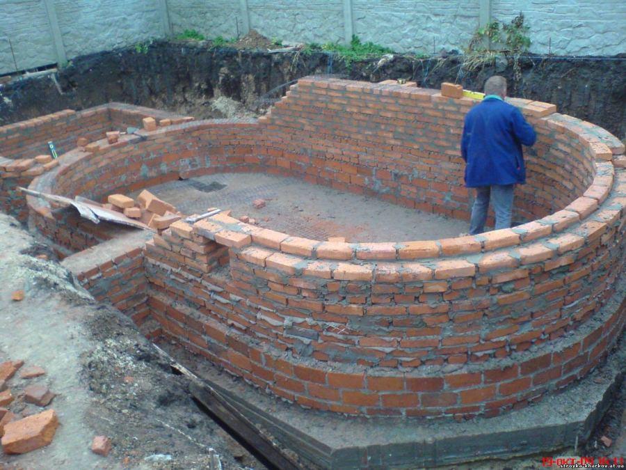 Строительство кирпичного бассейна. Рекомендации, полезные советы