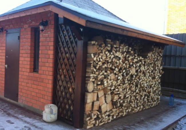 Пристройка для дров