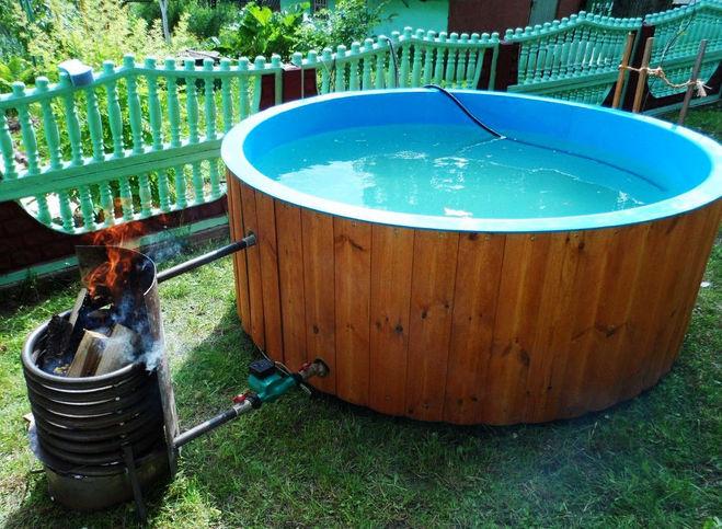 Как подогреть воду в бассейне