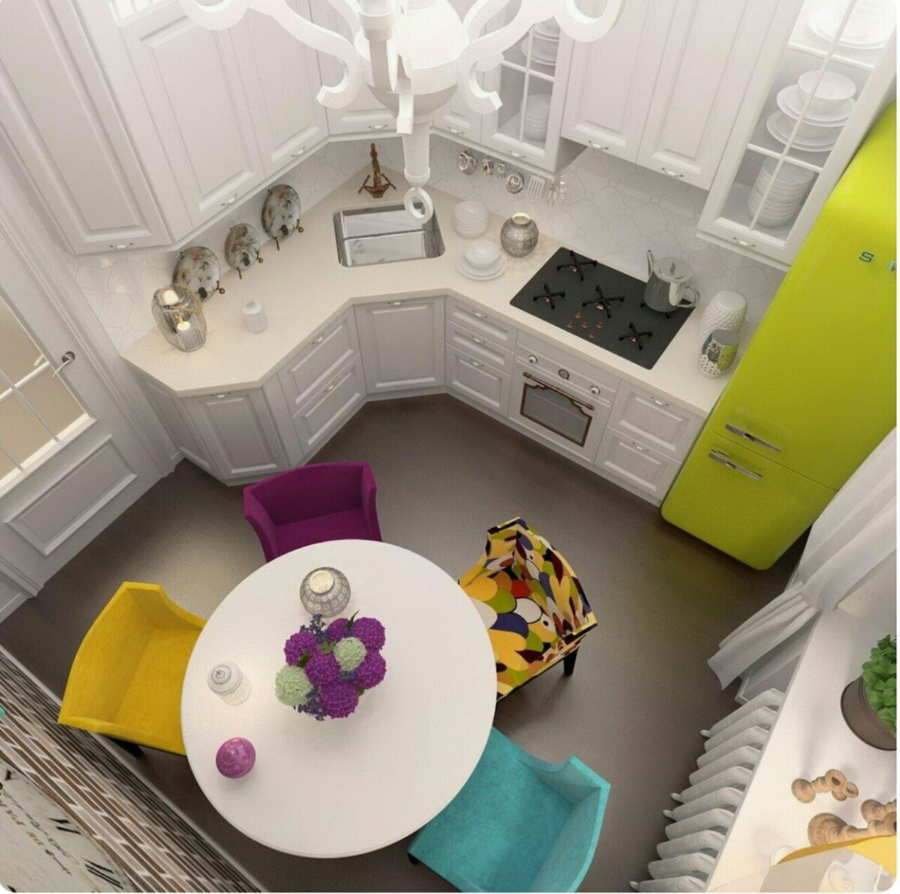 Дизайн маленькой кухни — как обустроить мини кухню у себя дома