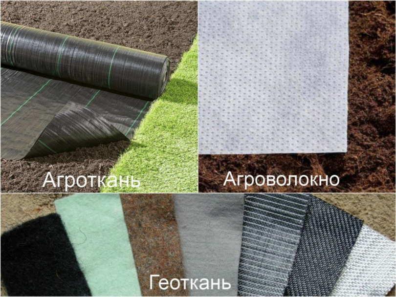 Виды укрывных материалов
