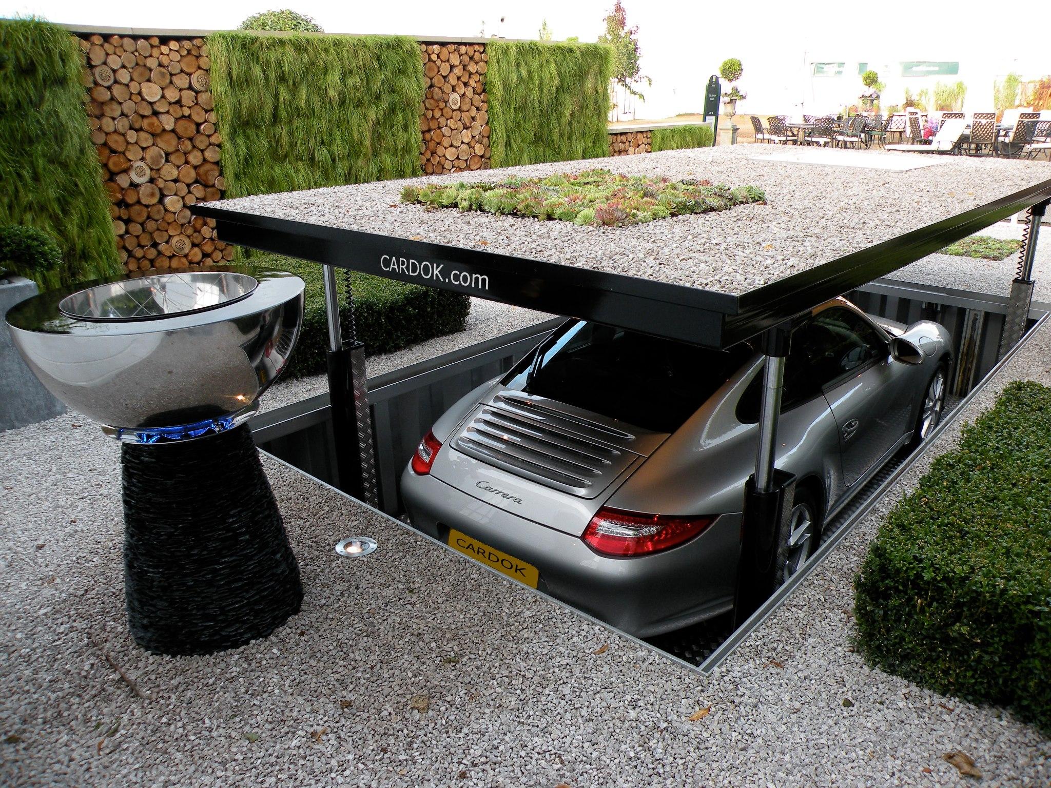 Как сделать парковку для машины на даче  732