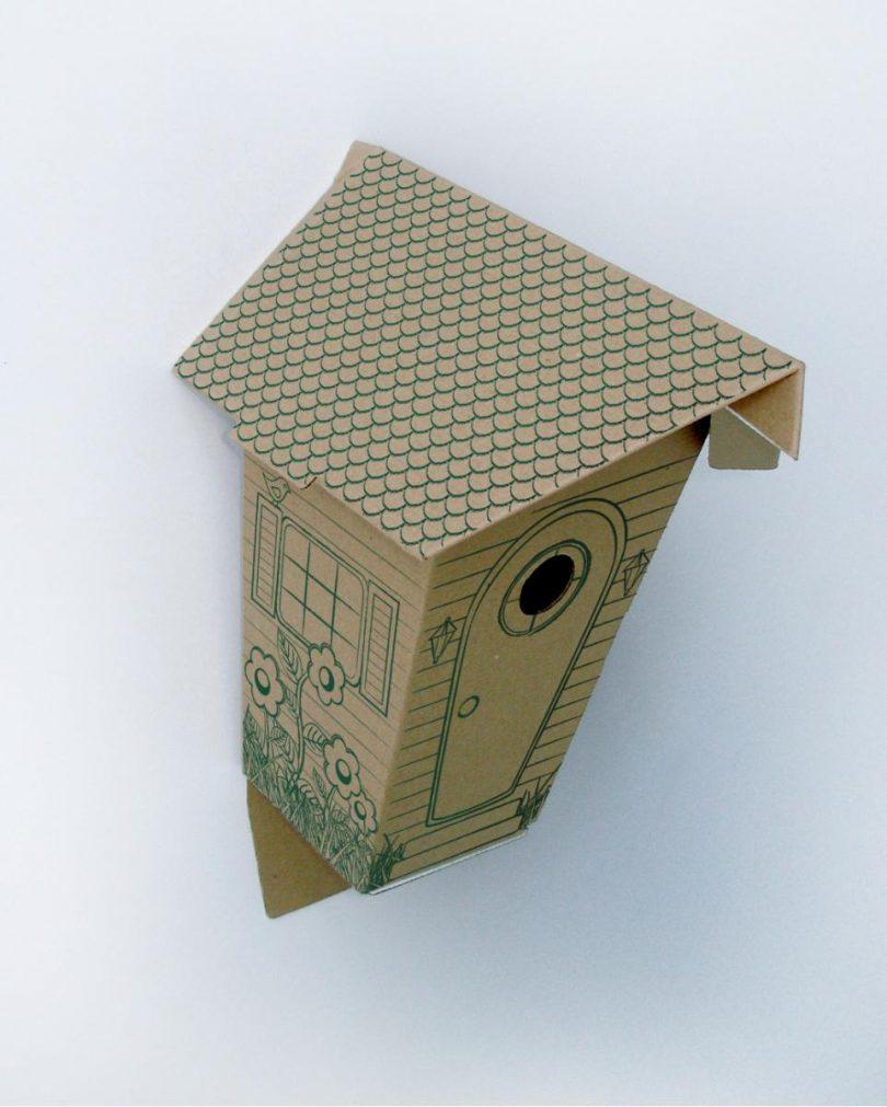 Как сделать скворечник из коробки своими руками