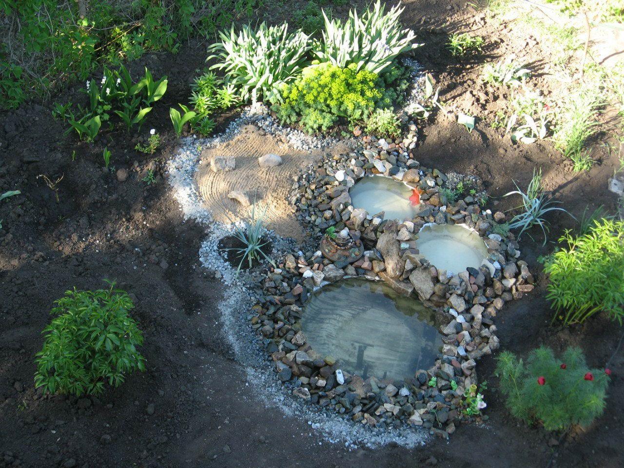 Как сделать декоративный водоем из покрышки на даче