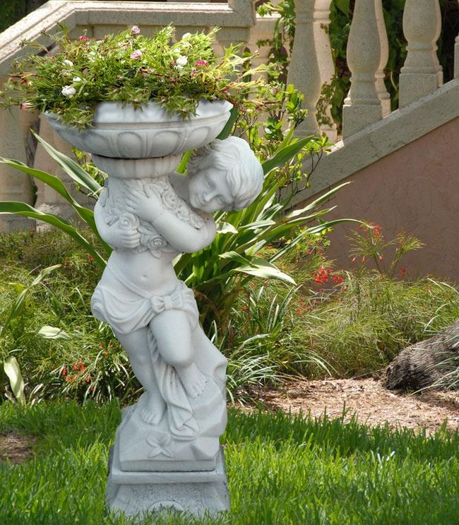 Скульптура для сада своими руками фото