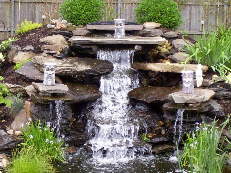 Как красиво сделать водопад